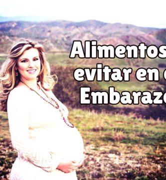 Alimentos a evitar en el embarazo